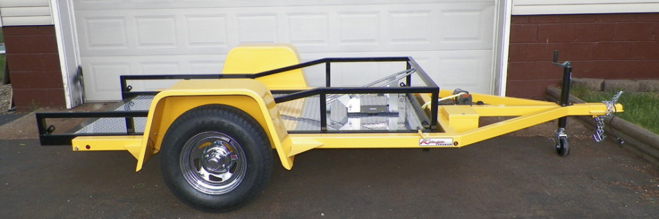 Trailers For Less >> Ramp Free Ramp Less Drop Bed Motorcycle Trailers Paw